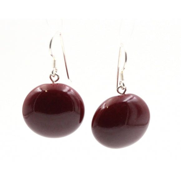 Blackcurrant Moon Ceramic Drop Earrings - Zouf.biz