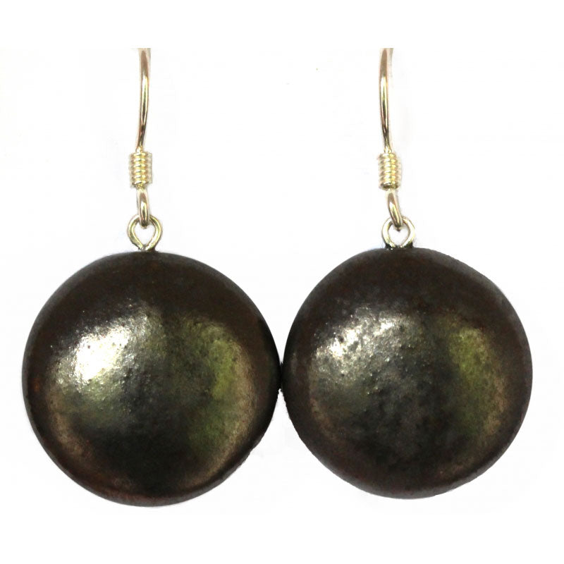 Cast Iron Moon Ceramic Drop Earrings - Zouf.biz