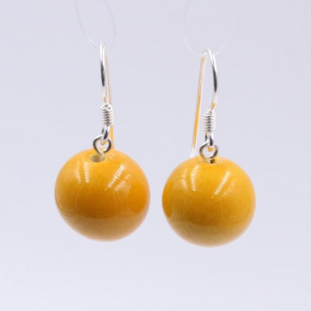 Apricot Perles Ceramic Drop Earrings - Zouf.biz