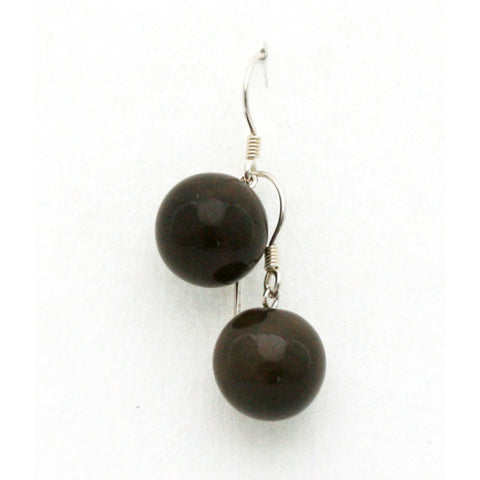 Black Perles Ceramic Drop Earrings - Zouf.biz