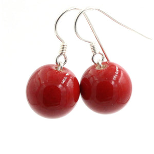 Cherry Perles Ceramic Drop Earrings - Zouf.biz