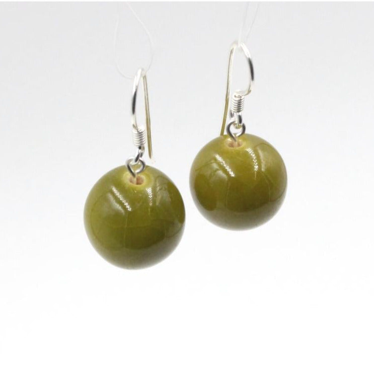 Pistachio Perles Ceramic Drop Earrings - Zouf.biz