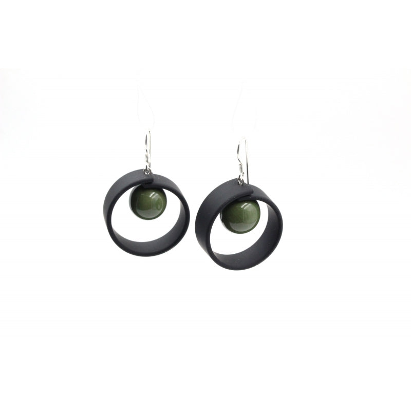 Khaki Tempo Drop Earrings - Zouf.biz