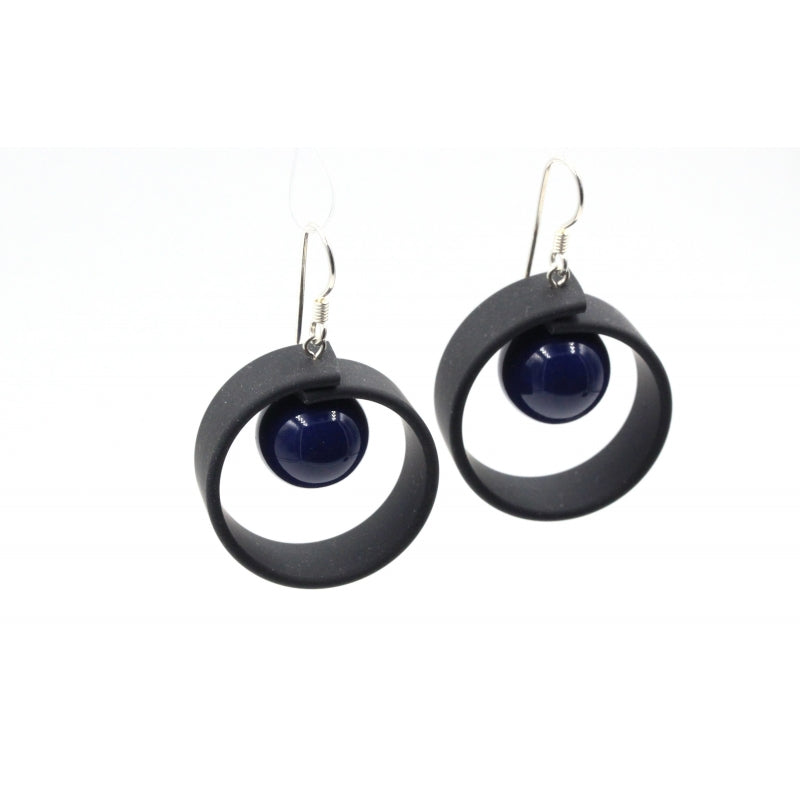 Midnight Blue Tempo Drop Earrings - Zouf.biz