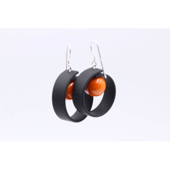 Orange Tempo Drop Earrings - Zouf.biz