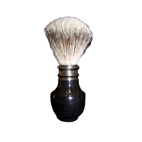 Pure Silver Tip Badger Shaving Brush Ebony Wood - Zouf.biz