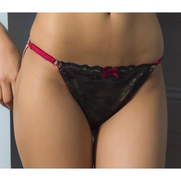 Essential Adjustable Briefs, Black/Peach/Red Organic Cotton - Zouf.biz