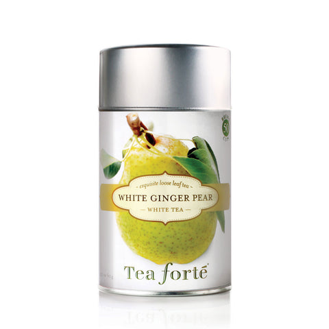White Ginger Pear Loose Leaf Tea Canister - Zouf.biz