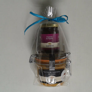 Gift Pack Whole Duck Foie Gras 180g + Fig Chutney - Silver Medal - Zouf.biz