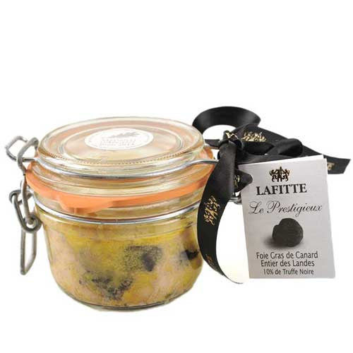 Whole Duck Foie Gras with 10% Black Truffles - 130g Jar - Bronze Medal - Zouf.biz