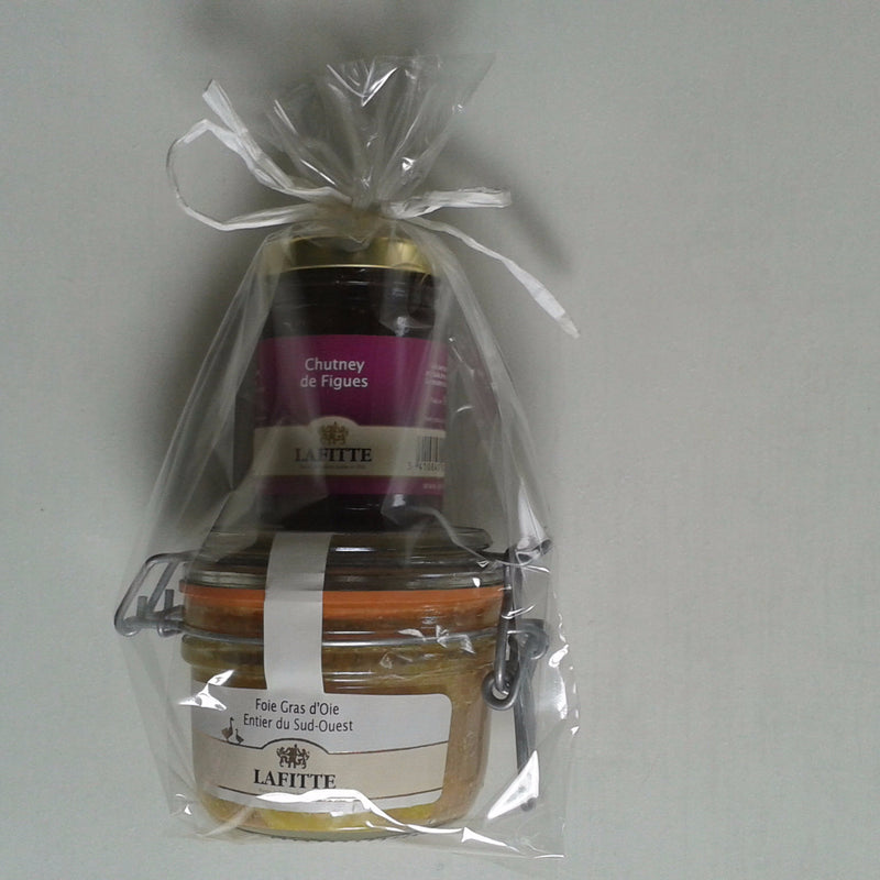 Gift Pack Whole Goose Foie Gras 130g + Fig Chutney - Bronze Medal - Zouf.biz