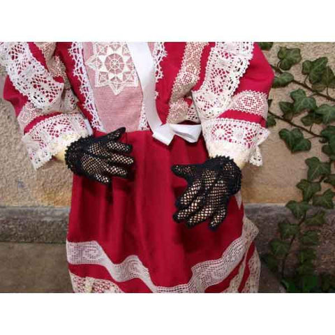 Black Vintage Crochet Gloves - Zouf.biz
