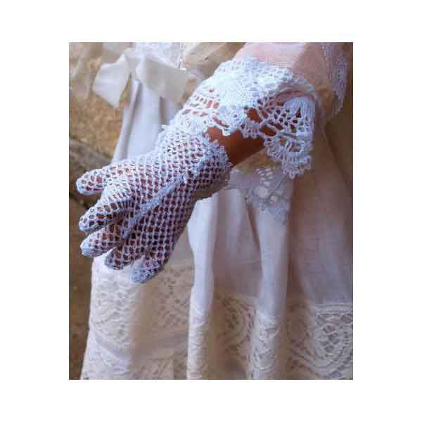 White Vintage Crochet Gloves - Zouf.biz