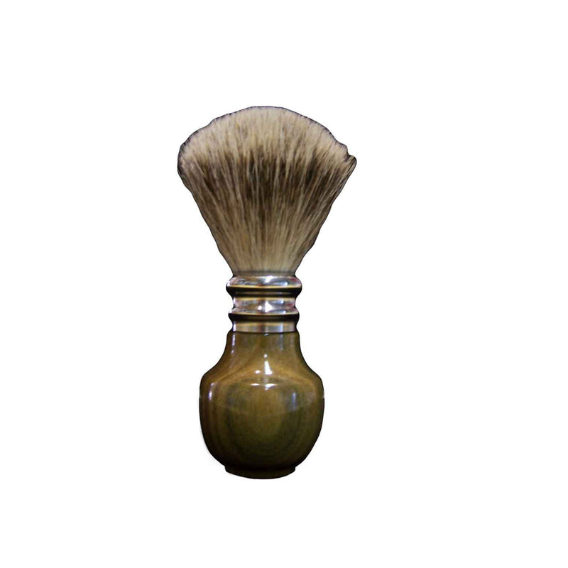 Pure Silver Tip Badger Shaving Brush Guayacan Wood - Zouf.biz