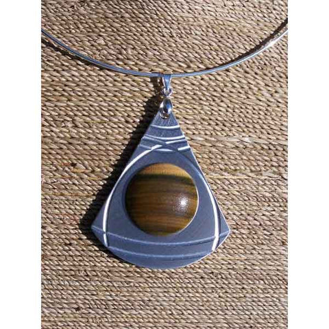 Guayacan Wood Choker Necklace - Zouf.biz