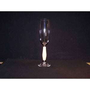 Crystal Champagne Flute on Holly Wood Base - Zouf.biz
