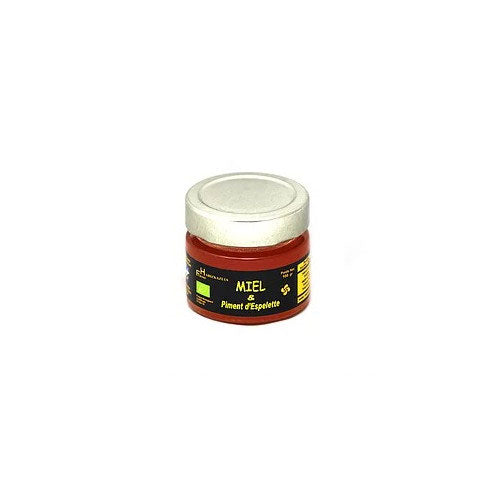 Organic Honey with Espelette Chili Pepper - 100g - Zouf.biz