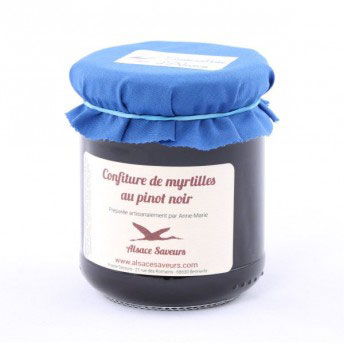 Blueberry Jam with Pinot Noir - 250g - Zouf.biz