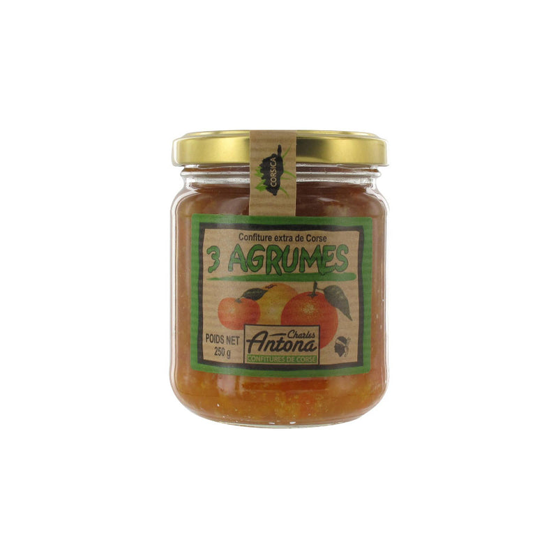 3 Citrus Fruits Extra Jam - 250g - Zouf.biz