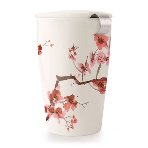 Kati Loose Tea Cup & Infuser, Cherry Blossoms - Zouf.biz