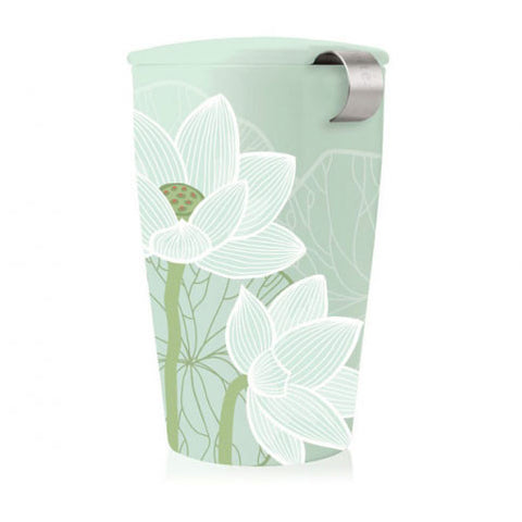 Kati Loose Tea Cup & Infuser, Lotus - Zouf.biz