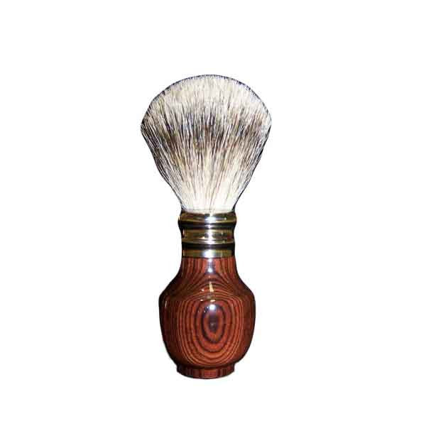 Pure Silver Tip Badger Shaving Brush Kingwood - Zouf.biz