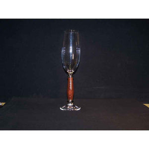 Crystal Champagne Flute on Kingwood Base - Zouf.biz