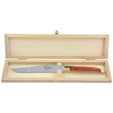 Laguiole Carving Knife Rosewood, Prestige Collection Brass