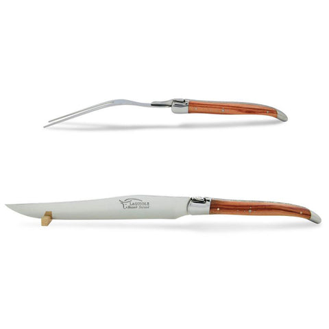 Laguiole Carving Set Rosewood, Prestige Collection Shiny