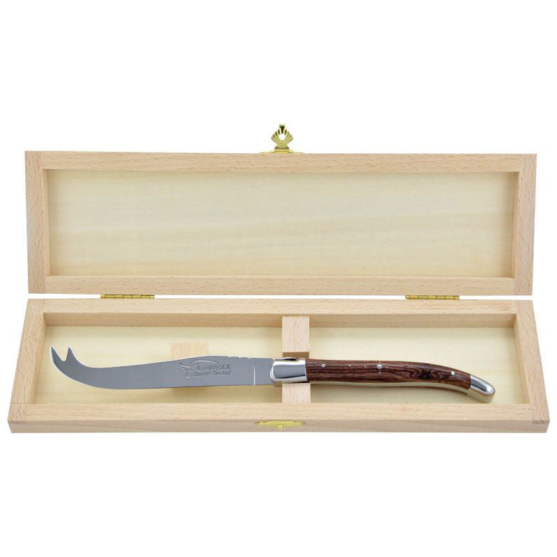 Laguiole Cheese Knife Kingwood, Prestige Collection - Zouf.biz