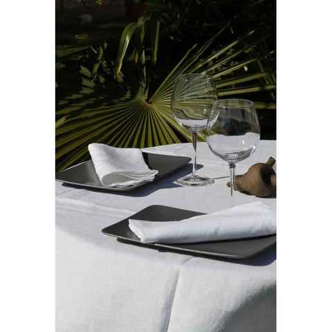 Washed Pure Linen White Tablecloth - Zouf.biz