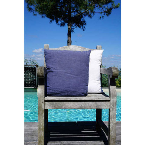 Dark Blue 100% Linen Cushion Cover - Zouf.biz