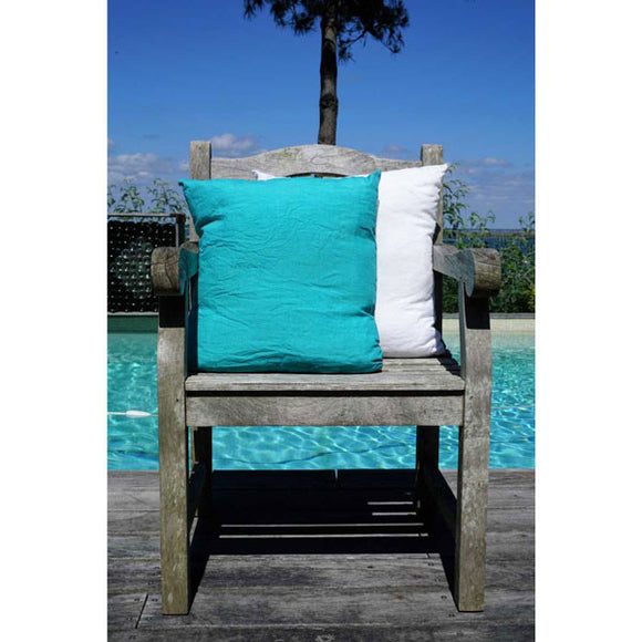 Turquoise 100% Linen Cushion Cover
