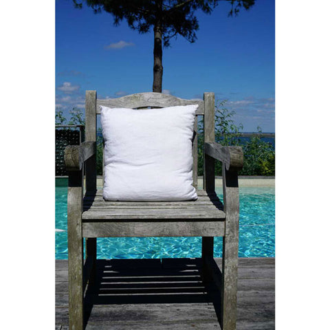 White 100% Linen Cushion Cover