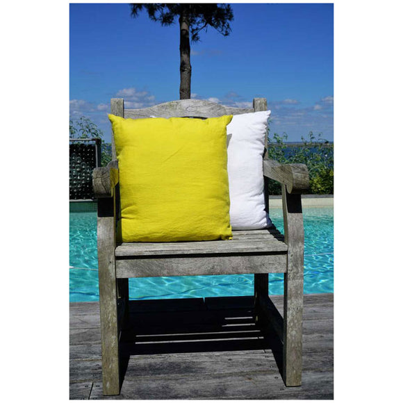 Yellow 100% Linen Cushion Cover