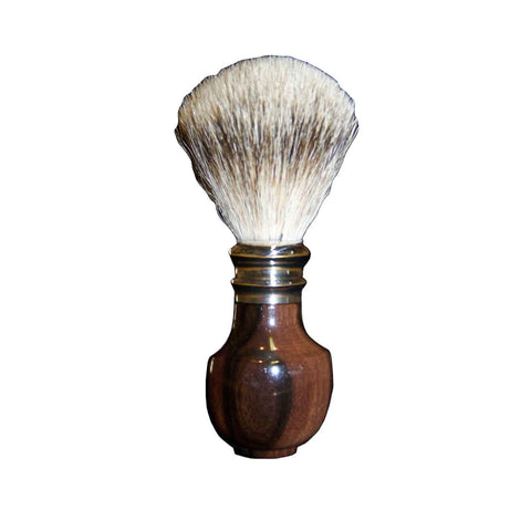 Pure Silver Tip Badger Shaving Brush Macassar Ebony Wood - Zouf.biz