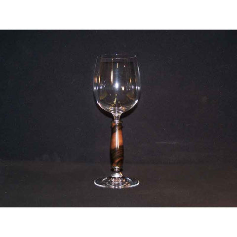 Crystal Wine Glass on Macassar Ebony Wood Base - Zouf.biz