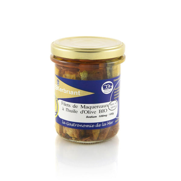 Mackerel Fillets in Organic Olive Oil - 200g - Zouf.biz