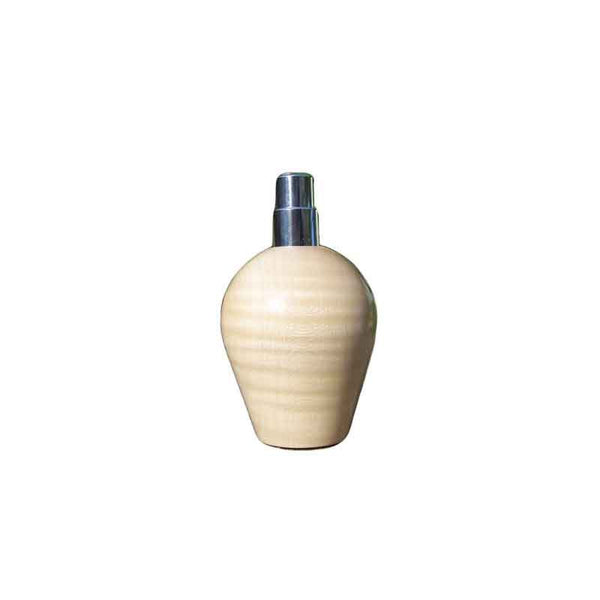 Wavy Maple Wood Round Travel Spray Refillable Holder - Zouf.biz