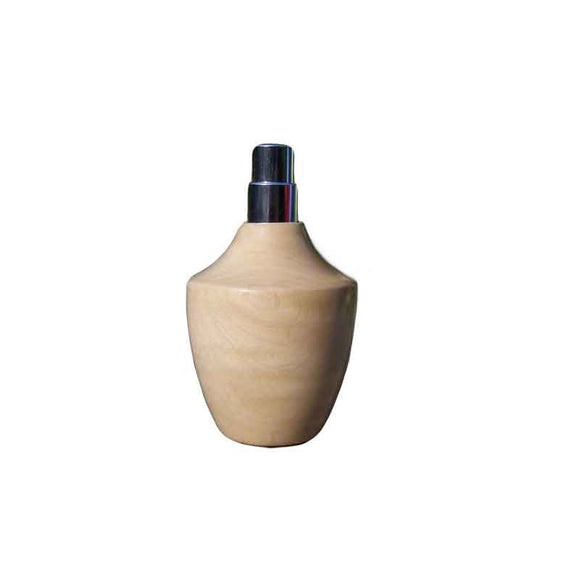 Wavy Maple Wood Square Travel Spray Refillable Holder - Zouf.biz