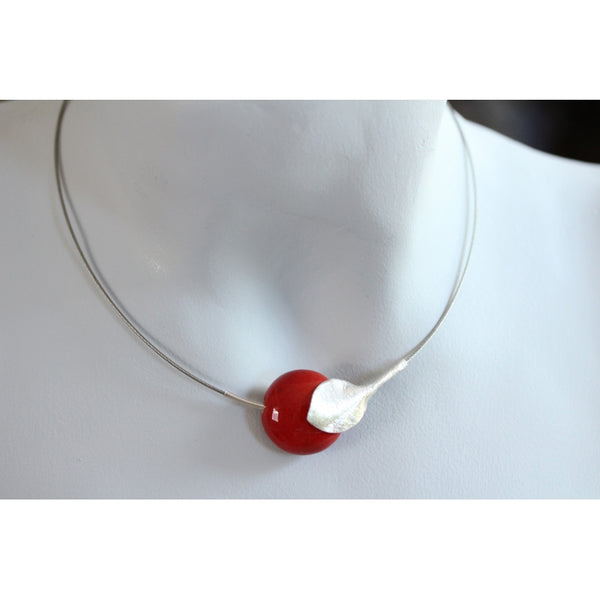 Cherry Fleur Ceramic Necklace - Zouf.biz
