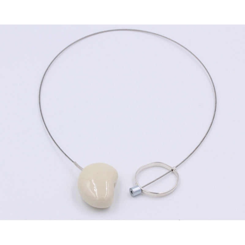 Ivory Graphik Ceramic Necklace - Zouf.biz