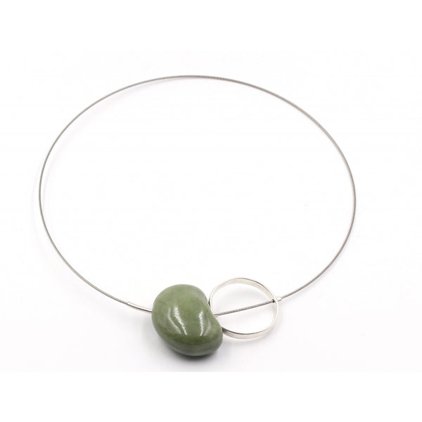 Khaki Graphik Ceramic Necklace - Zouf.biz