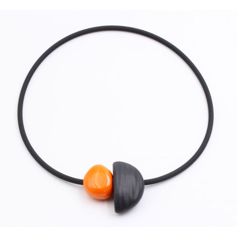 Orange Leo Ceramic Necklace - Zouf.biz