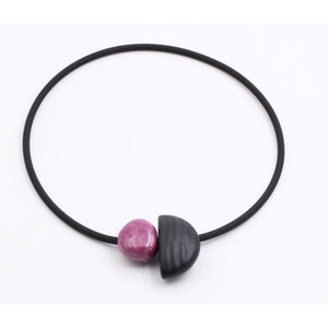 Plum Leo Ceramic Necklace - Zouf.biz