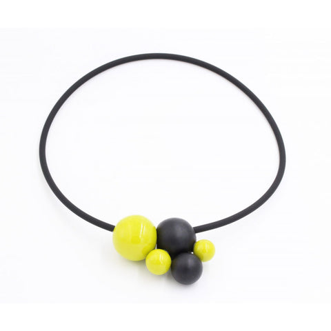 Anise & Black Meteore Ceramic Necklace - Zouf.biz