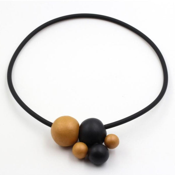 Gold & Black Meteore Ceramic Necklace - Zouf.biz