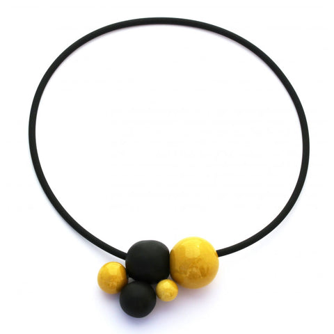 Sun & Black Meteore Ceramic Necklace - Zouf.biz