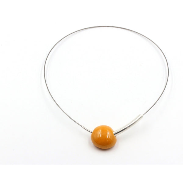 Apricot Sakura Ceramic Necklace - Zouf.biz