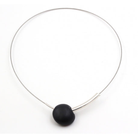 Black Sakura Ceramic Necklace - Zouf.biz